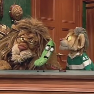 When conventional puppetry and animatronics are used as a complimentary technique