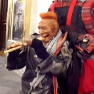 Some novelty street puppetry
